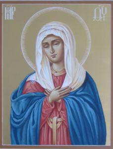 Рукописная икона Умиление Божией Матери купить с доставкой