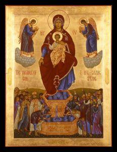 Рукописная икона Живоносный Источник