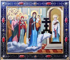 Рукописная икона Забельская купить с доставкой