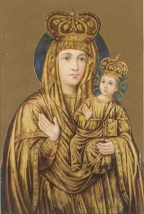 Рукописная икона Зарваницкая купить с доставкой