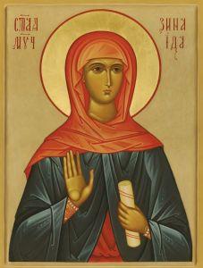 Рукописная икона Зинаида