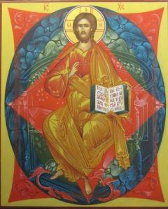 Рукописная икона Спас в Силах купить с доставкой