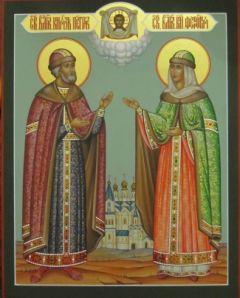 Рукописная икона Петр и Феврония 7 купить с доставкой