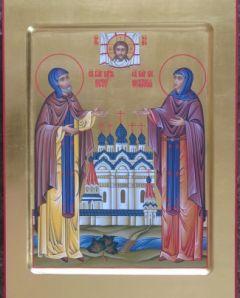 Рукописная икона Петр и Феврония 10 купить с доставкой
