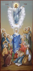 Рукописная икона Вознесение Господне купить с доставкой
