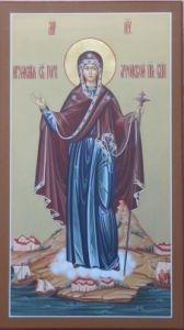 Рукописная икона Игуменья Горы Афонской