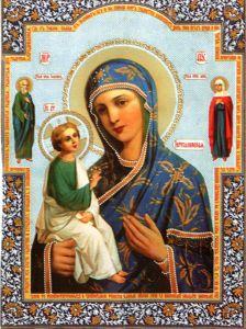Рукописная икона Иерусалимская купить с доставкой