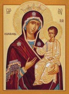 Рукописная икона Избавительница купить с доставкой