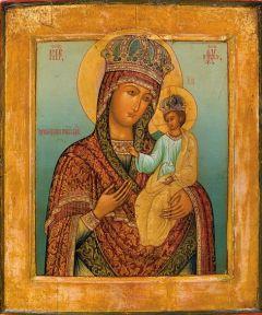 Рукописная икона Ильинская Черниговская