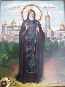 Рукописная икона Иов Почаевский купить с доставкой