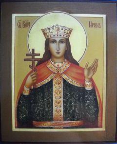 Рукописная икона Ирина Македонская Великомученица купить с доставкой