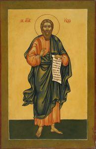 Рукописная икона Иуда Апостол Иаковлев Леввей