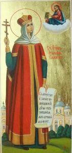 Рукописная икона Иулиания Вяземская