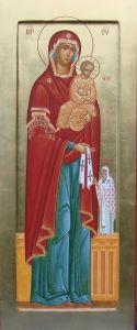 Рукописная икона Максимовская Божия Матерь купить с доставкой