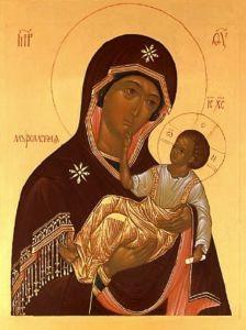 Рукописная икона Муромская Божия Матерь купить с доставкой