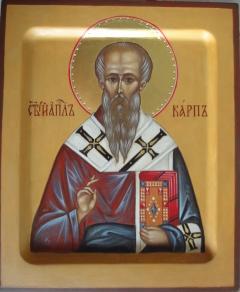 Рукописная икона Карп Апостол от 70-ти купить с доставкой