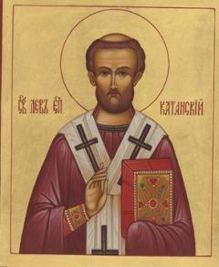 Рукописная икона Лев Катанский