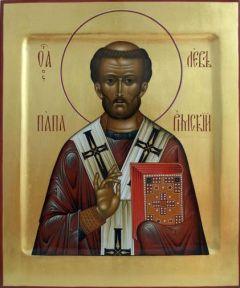 Рукописная икона Лев Папа Римский