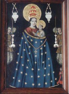 Рукописная икона Лорецкая (Лоретская) купить с доставкой