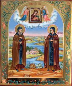 Рукописная икона Петр и Феврония 27 купить с доставкой