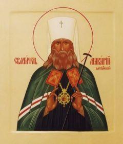 Рукописная икона Макарий Алтайский купить с доставкой