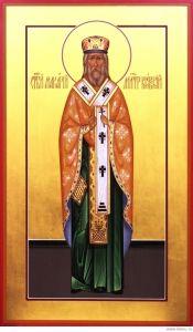 Рукописная икона Макарий Киевский купить с доставкой
