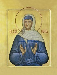 Рукописная икона Мария Блаженная Дивеевская купить с доставкой