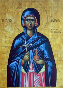 Рукописная икона Марфа Персидская