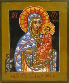 Рукописная икона Божией Матери Молченская купить с доставкой