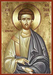 Рукописная икона Нафанаил Апостол купить с доставкой