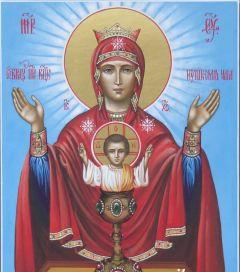 Рукописная икона Неупиваемая Чаша