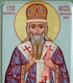 Рукописная икона Никифор Цареградский купить с доставкой