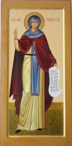 Рукописная икона Елизавета (Елисавета) Константинопольская купить с доставкой