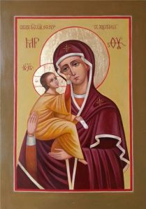 Рукописная икона О грешных Святая Ходатаица купить с доставкой