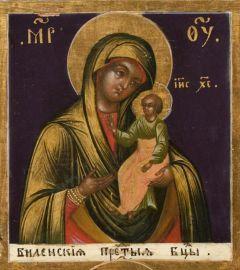 Рукописная икона Одигитрия Виленская купить с доставкой
