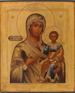 Рукописная икона Одигитрия Смоленская