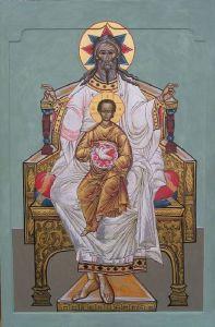 Рукописная икона Отечество купить с доставкой