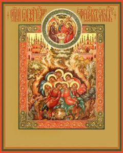 Рукописная икона Отроки Эфесские купить с доставкой
