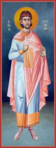 Рукописная икона Евгений Трапезундский