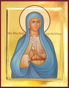 Рукописная икона Святая Александра Амиссийская
