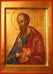 Рукописная икона Павел Апостол купить с доставкой