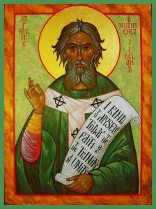 Рукописная икона Патрикий (Патрик) Ирландский