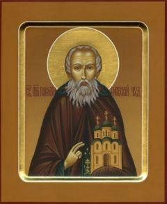 Рукописная икона Пафнутрий Боровский купить с доставкой
