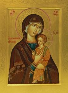 Рукописная икона Пименовская купить с доставкой