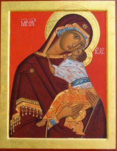 Рукописная икона Подкубенская