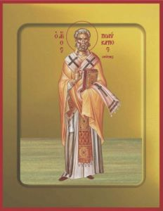 Рукописная икона Поликарп Смирнский купить с доставкой