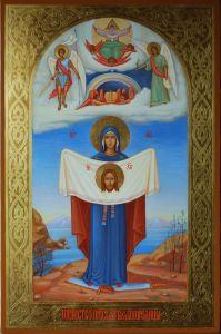 Рукописная икона Порт Артурская