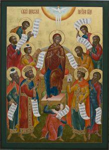 Рукописная икона Похвала Богоматери