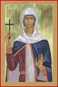 Рукописная икона Прискилла Римская купить с доставкой