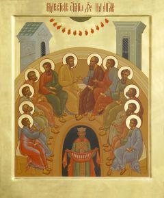 Рукописная икона Пятидесятница купить с доставкой